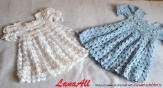 Платье для девочки узором «ришелье»