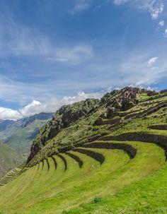 The inca terraces of Pisaq / Peru (by   Yunfei Li Song).