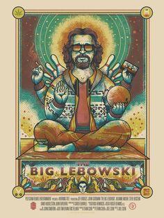Drew Millward The Big Lebowski Movie Poster Release