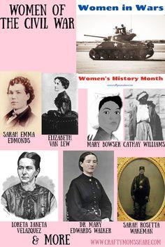 Women in the Civil War Women's History, History Museum, Harriet Tubman, Female Soldier, Mary Elizabeth, American Civil War, Memoirs, Teaching Kids, Civilization