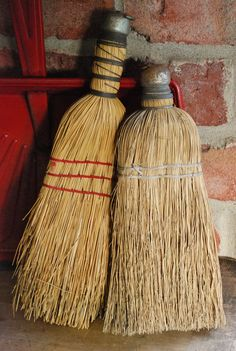 Straw Whisk Brooms
