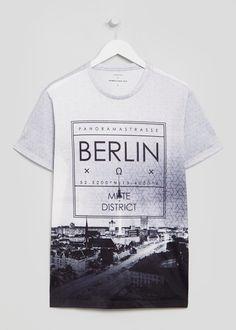 Berlin City Sublimation Print T-Shirt