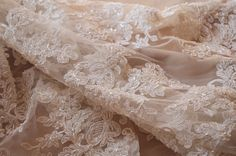 ivory beaded cord lace fabric super delicate lace ivory door LaceFun