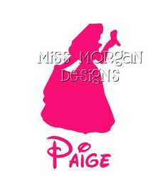 Personalized Sleeping Beauty Princess Disney iron on decal thinking of doing tutus and decal shirts like these for  Disneyland bacheloret party