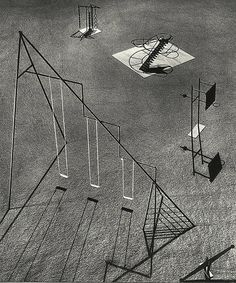 Isamu Noguchi's playground equipment designs were criticized on the grounds they were too dangerous. These models were developed as part of a design for a playground to be constructed in Hawaii (1939-1940), but remained unrealized