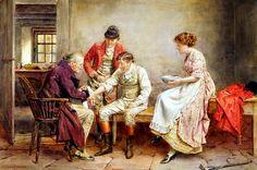 George Goodwin Kilburne (British, 1839-1924) - A hunting accident.