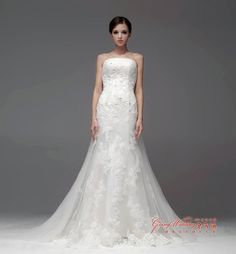 wedding dresses with detatchable trains | ... Wedding Dress Zipper back with Corded Lace and Detachable Train NW0724