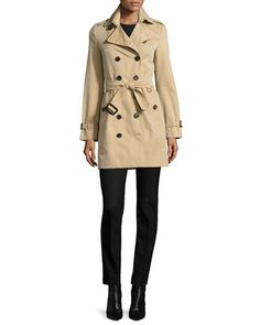BURBERRY The Sandringham - Mid-Length Slim Fit Heritage Trench Coat, Honey. #burberry #cloth #