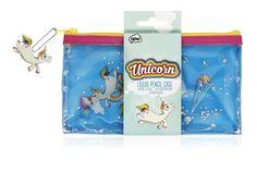 Einhorn Liquid Stifte Mäppchen, Schminktasche - Unicorn Liquid Pencil Case: