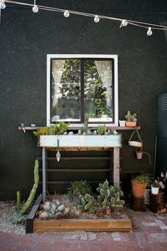 Outdoor Inspiration | Plant Table