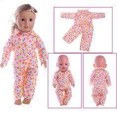 प्यारा गुड़िया पायजामा, 18 इंच अमेरिकी लड़की गुड़िया के लिए उपयुक्त, 43cmzapf गुड़िया बच्चों को सबसे अच्छा उपहार गुड़िया सामान American Girl, Pajamas, Pajama Pants, Baby, Fashion, Moda, La Mode, Newborn Babies, Fasion