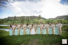 bridal party photography // the whole group!
