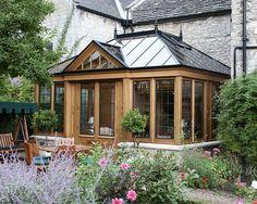 Deck designs with gazebo gazebo roof idea deck ideas cottage garden design wooden gazebo porch pictures . Deck Ideas Cottage, Backyard Cottage, Cottage Plan, Garden Cottage, Sunroom Ideas, Modern Roofing, Modern Exterior, Stone Exterior, Style At Home