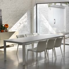 Tavolo allungabile laccato bianco Pascal di Bontempi