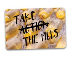 Take The Pills Fridge Magnet. Funny medicine by BetterMagnets Funny Magnets, Cute Gifts, Pills, Medicine, Rock, Etsy, Beautiful Gifts, Stone, Medical