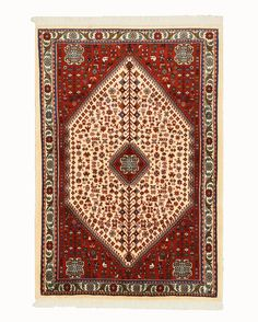 HAND KNOTTED WOOL ABADEH RUG (3'5 X 5'1)