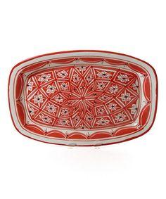 Another great find on #zulily! Nejma Rectangular Platter by Le Souk Ceramique #zulilyfinds