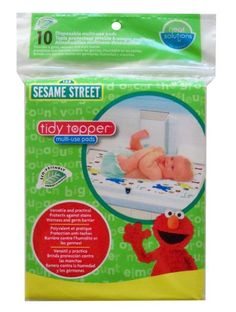 Neat Solutions 10 Count Sesame Street Multi-Use Pads Neat Solutions. Love these! I use these on top of the changing pad to protect the cover. Great to take along in your diaper bag #baby #babyproducts #babyshowergifts