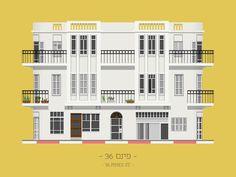 A cartoon encyclopedia of Tel Aviv's buildings | Gallery | Archinect