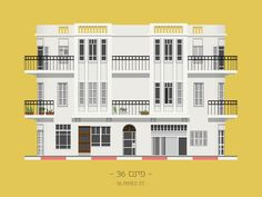 A cartoon encyclopedia of Tel Aviv's buildings | Gallery | Archinect