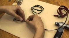 How to use the Tri-Buckle Claps to make Leather Wrap Bracelet - Intermed...
