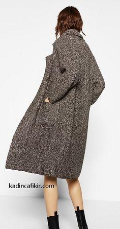 Yeni sezon kış modası düşük omuzlu Zara marka oversize kadın kaban modeli | Kadınca Fikir - Kadınca Fikir Women's Clothing, Zara, Women's Clothes