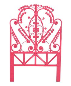 Loving this Pink Peacock Twin Headboard on #zulily! #zulilyfinds