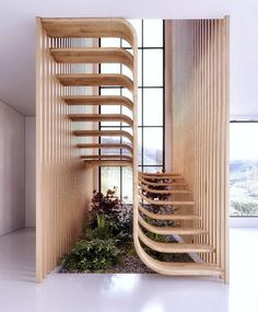 Stairs design architecture stairways interiors new Ideas Curved Staircase, Staircase Design, Home Decor Styles, Cheap Home Decor, Architecture Cool, Sweet Home, Inspiration Design, Interior Stairs, House Stairs