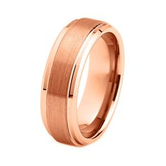 Hey, I found this really awesome Etsy listing at http://www.etsy.com/listing/168545302/18k-rose-gold-plated-tungsten-carbide