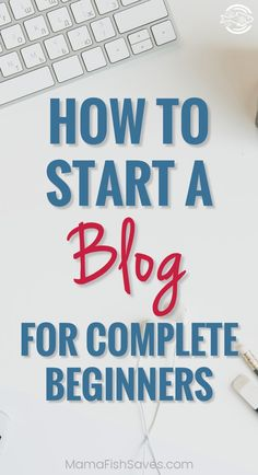 A comprehensive, step-by-step guide to starting a blog for the first time! Blogging for income | Creating a great blog | Getting started blogging #blogging #startablog #bloggerlife via @mamafishsaves Ways To Save Money, Make More Money, Make Money Blogging, Money Tips, Money Saving Tips, Business Advice, Online Business, Blog Topics, Blog Planner