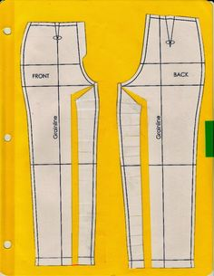 A bunch of Trouser/Pants Pattern Alterations from Cation Designs