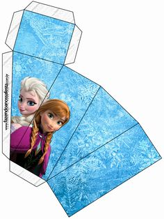 Frozen: Free Printable Party Boxes.