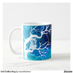 Sip from one of our many White coffee mugs, travel mugs and tea cups offered on Zazzle. Owl Coffee, White Coffee Mugs, Custom Mugs, Owls, Tea Cups, White Coffee Cups, Owl, Tea Cup, Tawny Owl