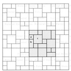 Laying Patterns for natural stone - bluestone, granite, limestone, travertine - with calculator for square footage and pieces needed to build patios, terraces, or walkways Bluestone Paving, Travertine Pavers, Paving Slabs, Paving Stones, Tile Layout Patterns, Paver Patterns, Paving Pattern, Outdoor Patio Pavers, Stone Patio Designs