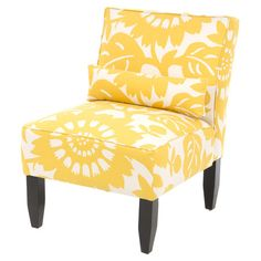 Armless chair with floral upholstery and foam padding. Handmade in the USA.Product: ChairConstruction Material: Polyfoam pa...