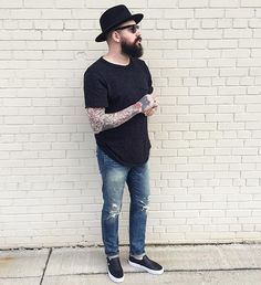 Distressed  #originalchuck #denimandsupply #mensstyle #mensfashion #mensstreetstyle #streetstyle #streetfashion #fashion #style #outfit #tattoos #beard