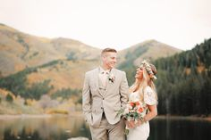 Amazing view, Tibble Fork Bridal, Utah Wedding Photographer | Alpine Loop Bridal Photos | http://www.gideonphoto.com/blog