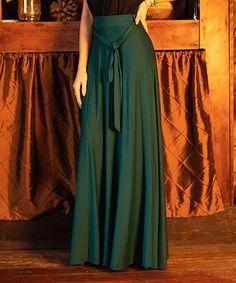 8bcb40efb4 Milly Penzance   Teal Tie-Belt High Waist Maxi Skirt - Women & Plus