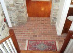 Entryways and hallways - Inglenook Brick Tiles - Brick Pavers Brick Tiles, Brick Pavers, Brick Flooring, Floors, Ash Fire, Entryway Flooring, Thin Brick, Floor Decor, Porcelain Tile