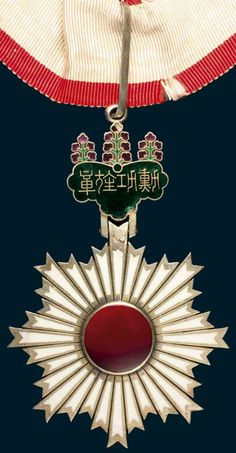 JAPAN, Order of the Rising Sun class neck badge in silver, gilt and enamels - Noble Numismatics 170 USD