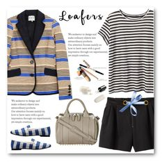 """Blue and White Loafers"" by juliehalloran ❤ liked on Polyvore featuring Proenza Schouler, Sea, New York, 3.1 Phillip Lim, Giuseppe Zanotti and Alexander Wang"