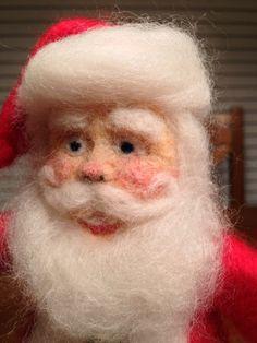 Needle Felted Santa From Kit
