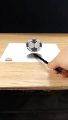 3d Pencil Drawings, 3d Art Drawing, Art Drawings For Kids, Art Drawings Sketches Simple, Easy Drawings, Easy 3d Drawing, Art Drawings Beautiful, Illusion Art, Diy Canvas Art