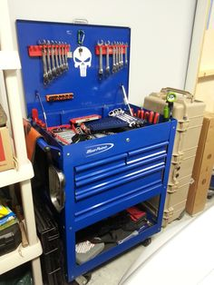 Blue Point Garage Tool Organization, Garage Tools, Garage Shop, Garage Workshop, Tool Storage, Organising Ideas, Organizing, Blue Point Tools, Tool Cart