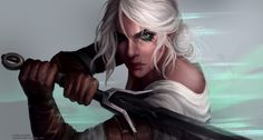 The Witcher 3 - Ciri , Astri Sjursen on ArtStation at https://www.artstation.com/artwork/K1yNo