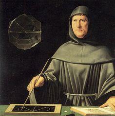 """Jacopo de Barbari.  """"Portrait of the mathematician Luca Pacioli"""" (1495)"""