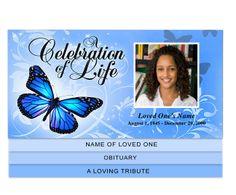 beautiful elegant memorial service program template rapture 4
