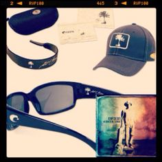 "Welcome to the Fishbowl"" CD Costa Del Mar Kenny Chesney Signature Sunglasses Kenny Chesney Limited Edition Series Box Kenny Chesney Limited Edition Costa Del Mar Baseball Cap Kenny Chesney Limited Edition Cleaning Cloth and Case Kenny Chesney Limited Edition Keeper I have to have this!!!!"