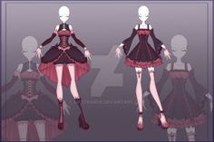 Anime Costume [Close] Adoptable Outfit Auction by LifStrange - Dress Drawing, Drawing Clothes, Anime Outfits, Cool Outfits, Anime Dress, Anime Costumes, Themed Outfits, Character Outfits, Poses