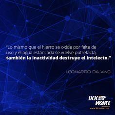 Frases de Leonardo Da Vinci #frases #ikkiware #tecnologia #intelecto #ideas